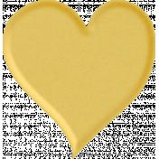 Positively Happy Yellow Heart
