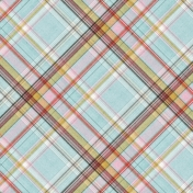 Positively Happy Plaid Paper 9