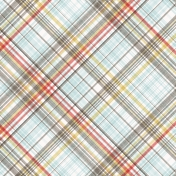 Positively Happy Plaid Paper 12