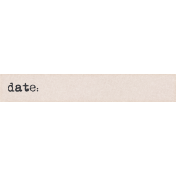 Project Endeavors Date Word Tag
