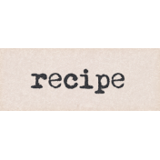 Project Endeavors Recipe Word Art