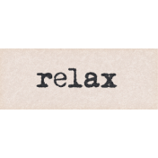 Project Endeavors Relax Word Art
