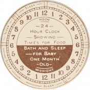 Nesting Baby Clock Sticker
