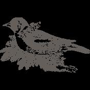 Nesting Bird Stamp Untextured
