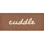 Nesting Cuddle Word Art Snippet