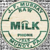 Nesting Wooden Milk Label