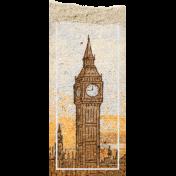 Around The World {In 80 Days} Big Ben Scrap Element