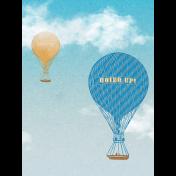 Around The World Balloon 3x4 Journal Card