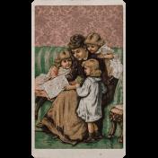 Vintage Memories: Genealogy Family Reading Vintage Card
