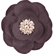 Vintage Memories: Genealogy Purple Damask Flower