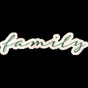 Vintage Memories: Genealogy Family Word Art