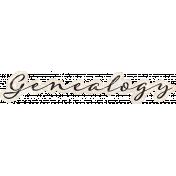 Vintage Memories: Genealogy- Genealogy Word Art