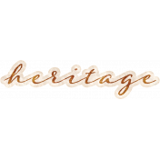 Vintage Memories: Genealogy Heritage Word Art