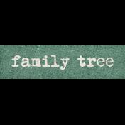 Vintage Memories: Genealogy Family Tree Word Art Snippet