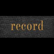 Vintage Memories: Genealogy Record Word Art Snippet