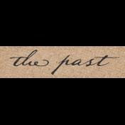 Vintage Memories: Genealogy The Past Word Art Snippet