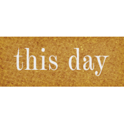 Vintage Memories: Genealogy This Day Word Art Snippet