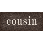 Vintage Memories: Genealogy Cousin Word Art Snippet