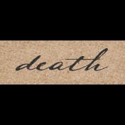 Vintage Memories: Genealogy Death Word Art Snippet