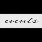 Vintage Memories: Genealogy Events Word Art Snippet
