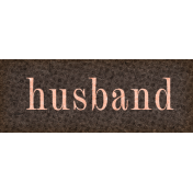 Vintage Memories: Genealogy Husband Word Art Snippet