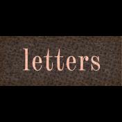 Vintage Memories: Genealogy Letters Word Art Snippet