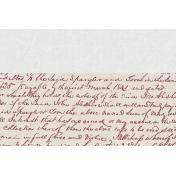 Vintage Memories: Genealogy Handwriting 4x6 Journal Card