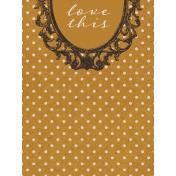 Vintage Memories: Genealogy Love This 3x4 Journal Card