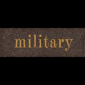 Vintage Memories: Genealogy Military Word Art Snippet