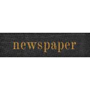 Vintage Memories: Genealogy Newspaper Word Art Snippet