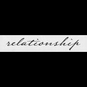 Vintage Memories: Genealogy Relationship Word Art Snippet