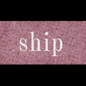Vintage Memories: Genealogy Ship Word Art Snippet