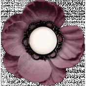Vintage Memories: Genealogy Mini Kit Purple Flower Element