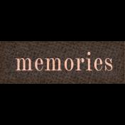 Vintage Memories: Genealogy Mini Kit Memories Word Snippet