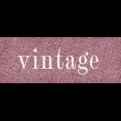 Vintage Memories: Genealogy Mini Kit Vintage Word Snippet