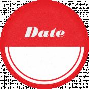 Retro Picnic Red Round Label