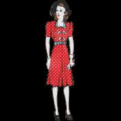 Retro Picnic Lady