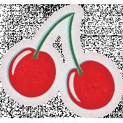 Retro Picnic Cherries Sticker