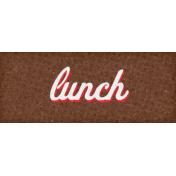 Retro Picnic Lunch Word Art