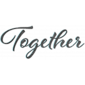 Retro Picnic Together Word Art