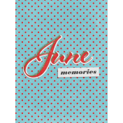 "Retro Picnic Journal Card June Memories 3""x 4"""