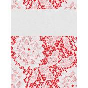 "Retro Picnic Journal Card Lace 3""x 4"""
