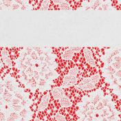 "Retro Picnic Journal Card Lace 4""x 4"""