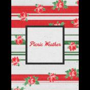 "Retro Picnic Journal Card Picnic Weather 3""x 4"""