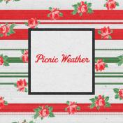 "Retro Picnic Journal Card Picnic Weather 4""x 4"""