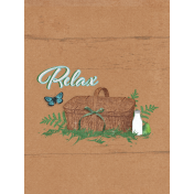 "Retro Picnic Journal Card Relax 3""x 4"""