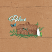 "Retro Picnic Journal Card Relax 4""x 4"""