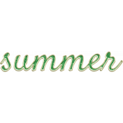 Peach Lemonade Enamel Summer Word Art