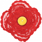 Peach Lemonade Red Lace Flower