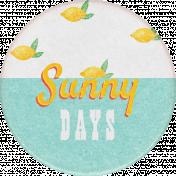 Peach Lemonade Sunny Days Round Sticker